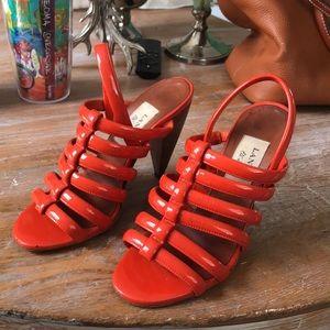 Lanvin open toe heels